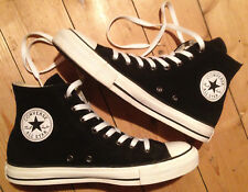 Converse Chucks All Star Leder high Damen Herren EUR 41,5 UK 8 schwarz neuw.