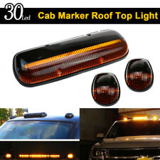 Amber Lens 30LED Cab Marker Roof Clearance Lights Assembly for 02-07 GMC Chevy