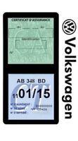 Porte vignette assurance VOLKSWAGEN double étui voiture Stickers auto rétro