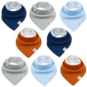 8 Dreieckstücher Unifarben Baby Lätzchen Sabberlatz Baumwolle Halstuch Spucktuch