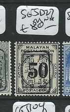 MALAYA JAPANESE OCCUPATION MPU POSTAGE DUE (PP0803B) 50C CHOP SG JD27  MNH