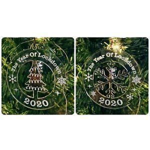 Lockdown 2020 Bauble ~ Christmas Tree Decoration~ Acrylic Xmas Gift