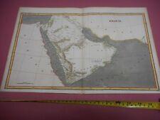 100% ORIGINAL LARGE ARABIA DUBAI OMAN MAP BY ARROWSMITH C1806 VGC HAND COLOURED