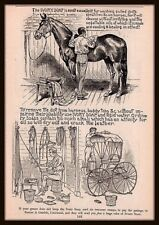 1886 a Ivory Soap Stable Groom Horse Clean Harness Buggy Print Ad IN STORE SALE