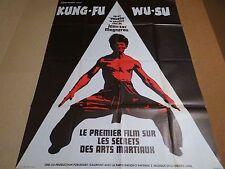 KUNG FU WU-SU  !  rare affiche cinema karate kung-fu arts martiaux 1977
