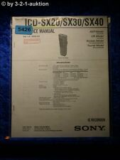 Sony Service Manual ICD sx20/sx30/sx40 IC Recorder (#5426)