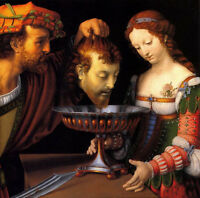 Oil painting Andrea Solari - Salome with the Head of St John the Baptist canvas