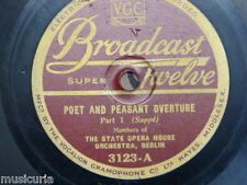 78 rpm STATE OPERA HOUSE ORCH BERLIN poet & peasant overture , suppe