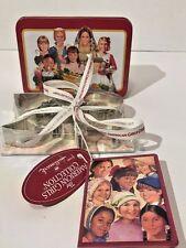 Pleasant Co American Girl Hallmark Xmas Cookie Cutter Recipe Card Tin  NOS 2003