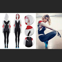 Into the Spider-Verse Gwen Stacy Spidergirl Costume Halloween Cosplay Party