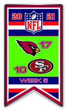 2021 Semaine 5 Bannière Broche NFL Arizona Cardinals Vs. San Francisco 49ERS