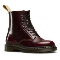 Dr Martens Womens 8 Hole Cherry Red Vegan 1460 Cambridge Brush Boots