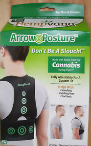 1 NEW IN BOX Hempvana Arrow Posture Support Garment made with Hemp fiber FREE SH