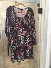 New KAREN KANE Rose Dust Burnout Stretch Dress Black Gray XL Sweater