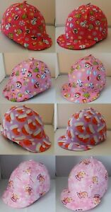 RIDING HAT COVER - CHRISTMAS DESIGNS - RED WHITE LILAC PINK EMOJI