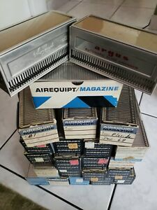 Vintage Airequipt Metal Slide X22 Magazines full 1 Argus + 1 extra see pictures.