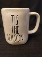 """Rae Dunn White """"TIS THE SEASON"""" Christmas Mug  LL Red Interior Christmas"""