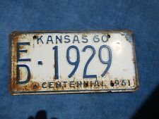 VINTAGE ORIGINAL KANSAS 1960 ED 1929 License VEHICLE Tag Man Cave Reissue.