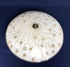 Starburst Ceiling Light Fixture UFO Glass Shade Mid Century Atomic Retro 12