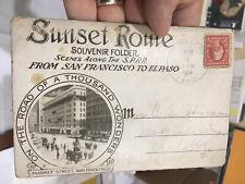 1912 Southern Pacific Ptt Sunset Route Souvenir Folder- Lots Of Photos