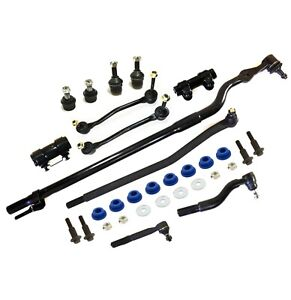 14 Pc Suspension Kit for FordExcursion F-250 F-350 Super Duty Tie Rods Sway Bar