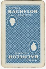 Playing Cards 1 Swap Card - Old Vintage PLAYERS BACHELOR Cigarettes Smoking 2