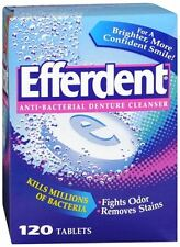 Efferdent Denture Cleanser Tablets Anti-Bacterial 120 ea (Pack of 5)