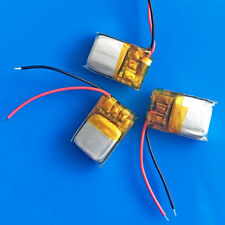 3 pcs 3.7V 50mAh Li Po Rechargeable Battery 501015 for MP3 headphone bluetooth