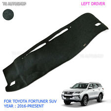 Lh Left Blk Dash Mat Dashmat Carpet Cover Fit New Toyota Fortuner Suv 2016 2017