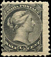 1882 Mint NH Canada F Scott #34 1/2c Small Queen Issue Stamp