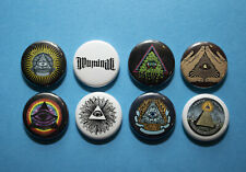 "8 1"" Illuminati All Seeing Eye Freemason Pyramid  - pinback badges buttons"