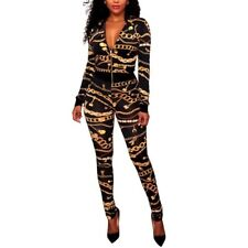 New Women's Sexy 2 Piece Gold Chain Jumpsuit*Black*Small*So cute*