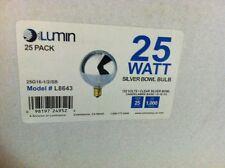 LUMIN 25 Watts Clear Silver Bowl G16-1/2 Globe Bulb L8643 1000HR