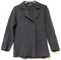 Calvin Klein Womens Gray Lightweight Button Down Jacket Size Medium