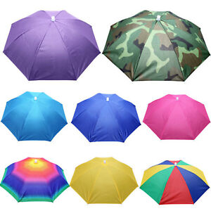 Foldable Sun Umbrella Hat Golf Fishing Camping Headwear Cap Head Hat Headwrap