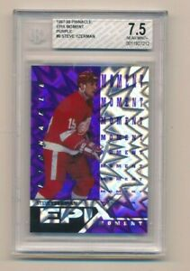 1997-98 Pinnacle Epix Purple Moment Steve Yzerman BGS 7.5
