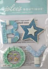 JOLEE'S BOUTIQUE BABY BOY YARN WORD Scrapbook Craft Sticker Embellishment