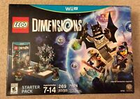 NEW LEGO Dimensions: Starter Pack Nintendo Wii U Factory Sealed INC. MiniFigures
