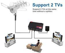 Outdoor Amplified Antenna Digital HD TV FOX 180 Mile Remote Support 2 TVs FOXTV