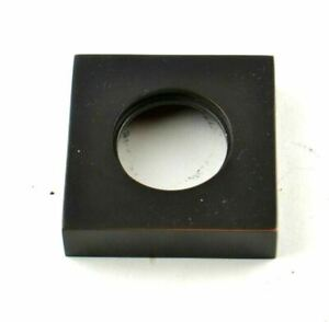 Square Rosette Circular Collar Disc Disk Aged Bronze Replacement Part