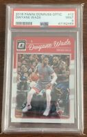 2016 Donruss Optic Dwyane Wade w/ LeBron James #12 PSA 9 MINT HOF