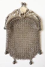 Bourse aumonière cote maille argent massif Griffon chimère silver bag  chimera