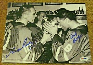 Autographed Toronto Maple Leafs George Armstrong/Andy Bathgate '67 Cup Auto 8X10