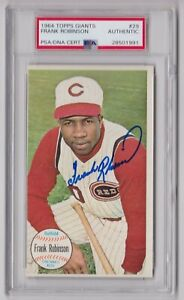 Frank Robinson Autographed 1964 Topps Giant Card # 29 - PSA/DNA