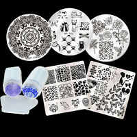 6Pcs/set BORN PRETTY Nail Art Stamping Image Plate Stamper Scraper  Kits