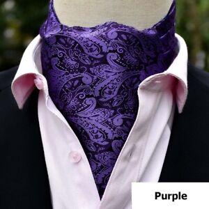 Men's Paisley Jacquard Cravat Tie Scarves Ascot Wedding Party Business Necktie