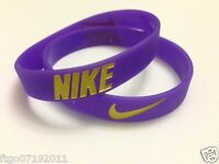New Nike Baller Silicone Wristband Purple and Gold Logo