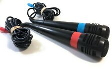 SingStar Two Microphones Red Blue Sony Playstation 3 PS3 Singing Mic