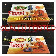SAFFRON TEA BAG 2x20 TEABAGS, POST SEALED BOX, SAHAR......KHI. SAFFRON TEA