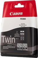 Canon 2x pgi-525bk, PGI525 NEGRO ORIGINAL OEM Cartuchos de inyección de Tinta (